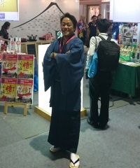 Marketing at the international trade show with the spirit of the samurai.